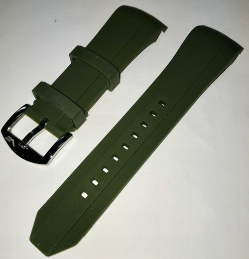 Vostok Europe Sea-Monster Silicon Strap 25mm Green With Polished Buckle