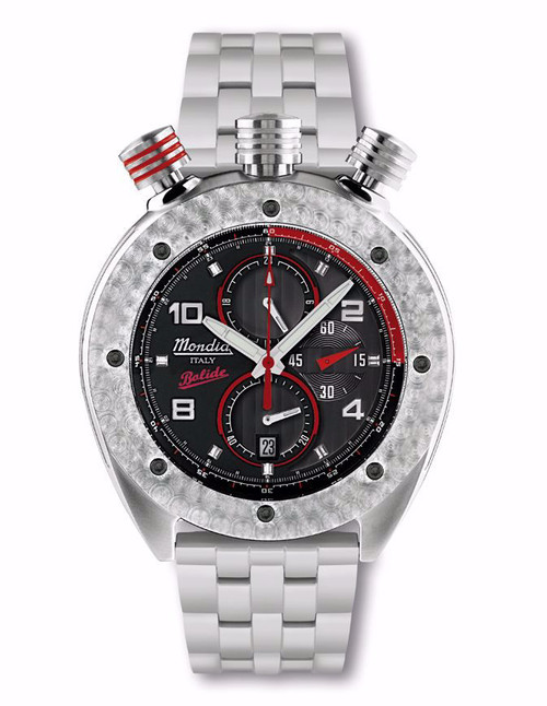 Mondia Italy Bolide Chronograph Watch MI-769-SS-3BKRD-CM