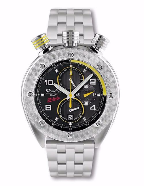 Mondia Italy Bolide Chronograph Watch MI-769-SS-4BKYW-CM