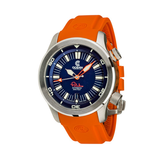 Ocean Crawler Paladino WaveMaker Blue Automatic watch 3-strap kit