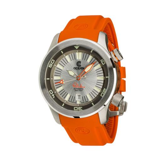 Ocean Crawler Paladino WaveMaker Silver Automatic watch 3-strap kit