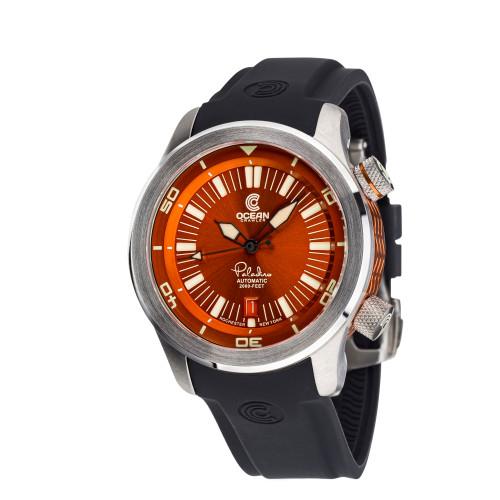 Ocean Crawler Paladino WaveMaker Orange-Black Automatic watch 3-strap kit