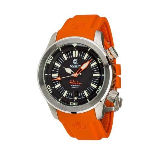 Ocean Crawler Paladino WaveMaker Black Automatic watch 3-strap kit