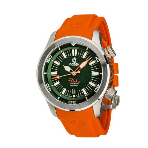 Ocean Crawler Paladino WaveMaker Green Automatic watch 3-strap kit