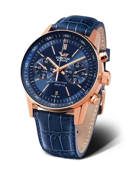 Vostok-Europe Watch Gaz Limo Tritium Chronograph 6S21-565B596