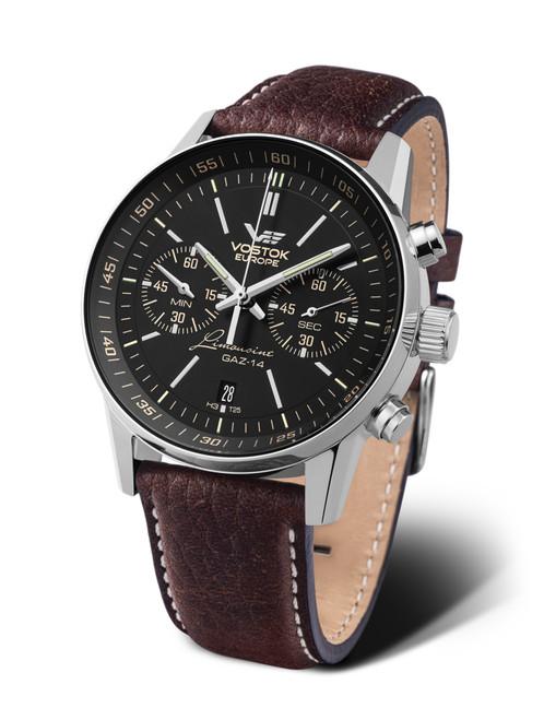 Vostok-Europe Watch Gaz Limo Tritium Chronograph 6S21-565A599