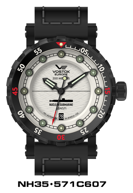 Vostok-Europe SSN-571 Automatic Submarine Watch (NH35-571C607)