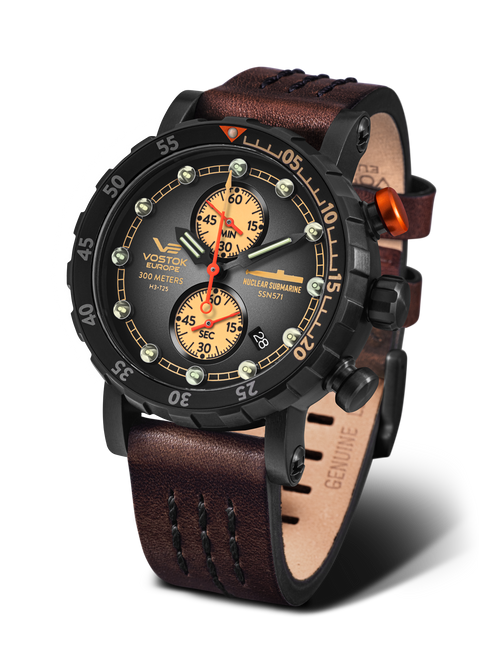 Vostok-Europe SSN-571 Mecha-Quartz Chronograph Submarine Watch (VK61/571C611)