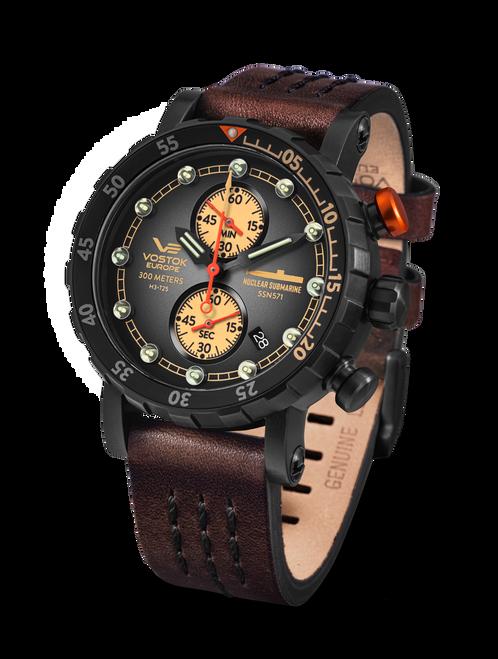 Vostok-Europe SSN 571 Mecha-Quartz Chronograph Submarine Watch (VK61/571C611)