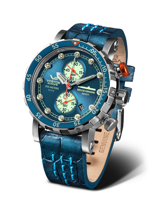Vostok-Europe SSN-571 Mecha-Quartz Chronograph Submarine Watch (VK61/571A610)