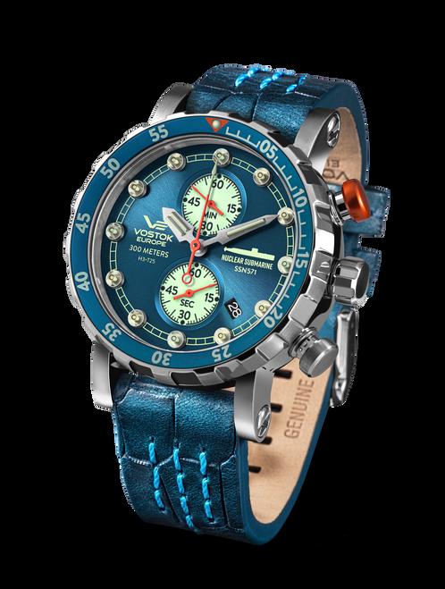 Vostok-Europe SSN 571 Mecha-Quartz Chronograph Submarine Watch (VK61/571A610)