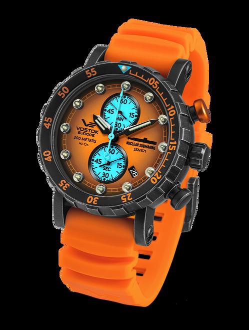 Vostok-Europe SSN 571 Mecha-Quartz Chronograph Submarine Watch (VK61/571F612)