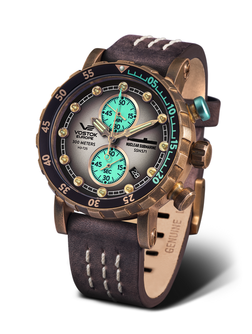 Vostok-Europe SSN-571 Mecha-Quartz Chronograph Submarine Watch (VK61/571O613)