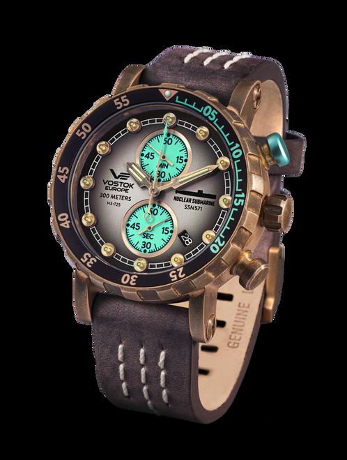 Vostok-Europe SSN 571 Mecha-Quartz Chronograph Submarine Watch (VK61/571O613)