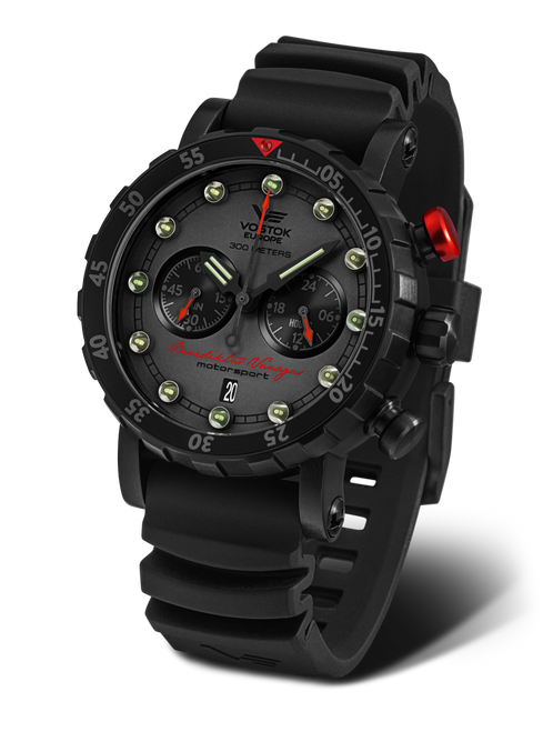 Vostok-Europe Benediktas Vanagas Black Edition Mecha-Quartz Chronograph (VK64/571J431)