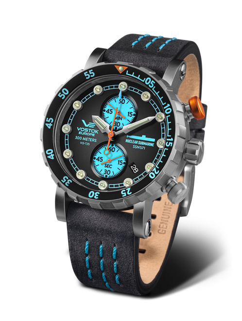Vostok-Europe SSN-571 Titanium Mecha-Quartz Chronograph Submarine Watch (VK61-571H614)