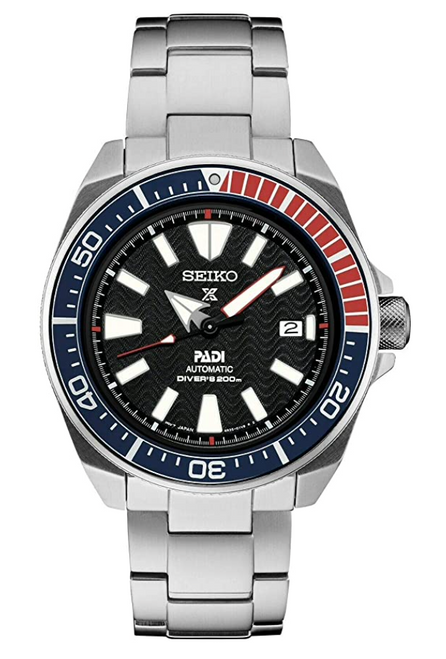 Seiko Padi Automatic Prospex Samurai Divers Men's Steel Watch SRPF09