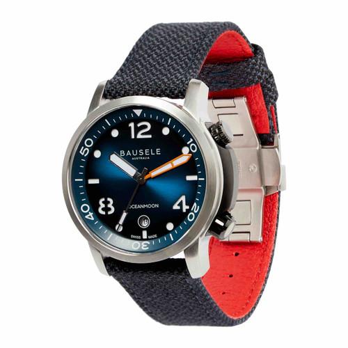 Bausele OCEANMOON IV Swiss Made Dive Watch | BLUE