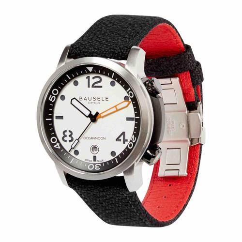 Bausele OCEANMOON IV Swiss Made Dive Watch | WHITE