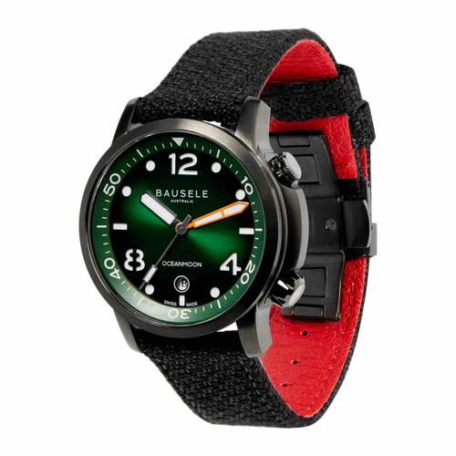 Bausele OCEANMOON IV Swiss Made Dive Watch | GREEN
