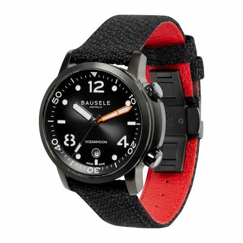 Bausele OCEANMOON IV Swiss Made Dive Watch | BLACK