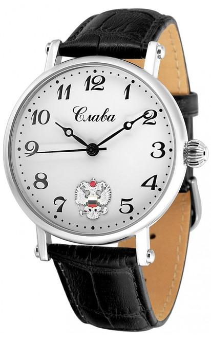Slava Premier Russian mechanical Movement wrist watch 8091679/300-2409.B