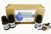 CELESTIAL® The Essentials Kit - Essential Oil Gift Pack - Organic Lavender, Lemon, & Organic Peppermint + Car Diffuser