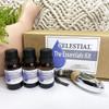 CELESTIAL® The Essentials Kit - Essential Oil Gift Box Pack - Organic Lavender, Lemon, & Organic Peppermint + Car Diffuser