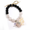 MiaLava | CRYSTAL AROMATHERAPY DIFFUSER BRACELET POWER OF HOPE - BREAST CANCER AWARENESS