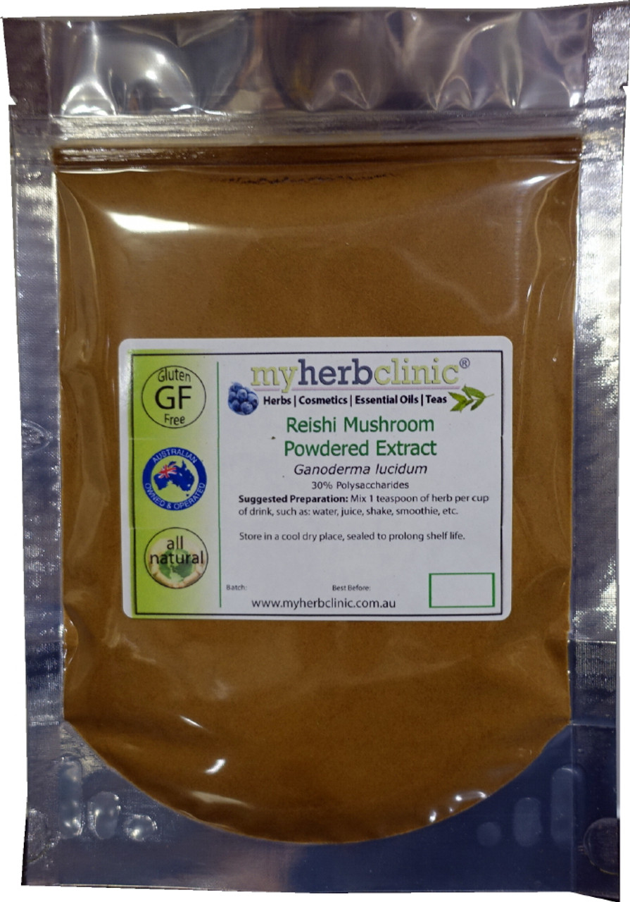 REISHI MUSHROOM POWDER EXTRACT 30% Polysaccharides RELAX CALM WELLBEING