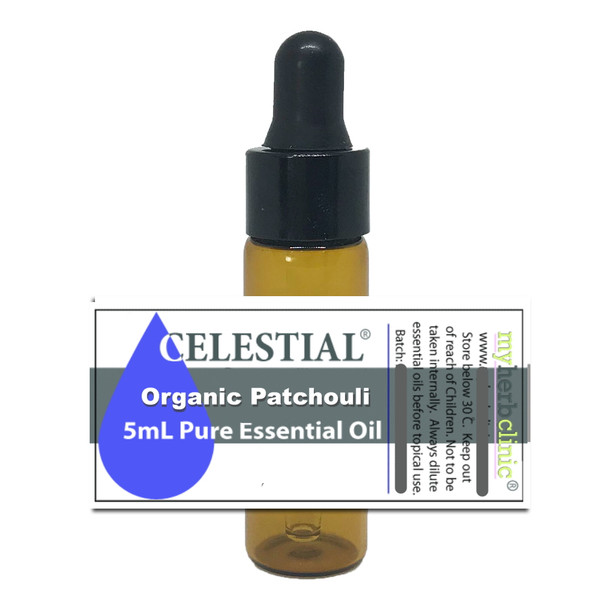 CELESTIAL ® PATCHOULI ORGANIC PURE ESSENTIAL THERAPEUTIC GRADE OIL RELAX ANXIETY