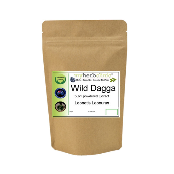 MY HERB CLINIC ® WILD DAGGA HERBAL LIONS TAIL Leonotis Leonurus POWDER EXTRACT 50X - RELAX