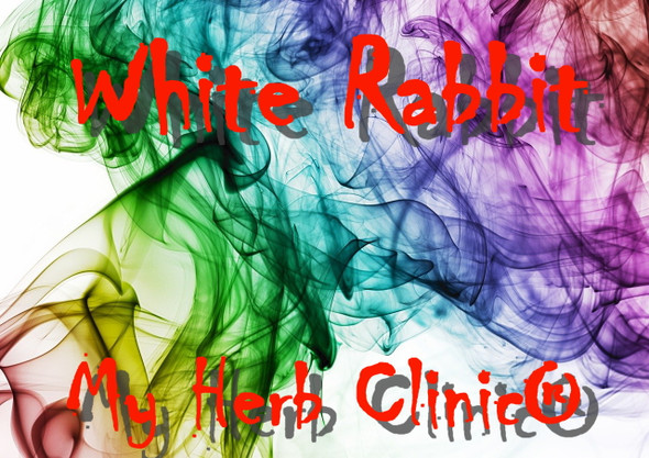 MY HERB CLINIC ® WHITE RABBIT ORGANIC HERBAL BLEND INCENSE SMUDGE DAMIANA LOTUS