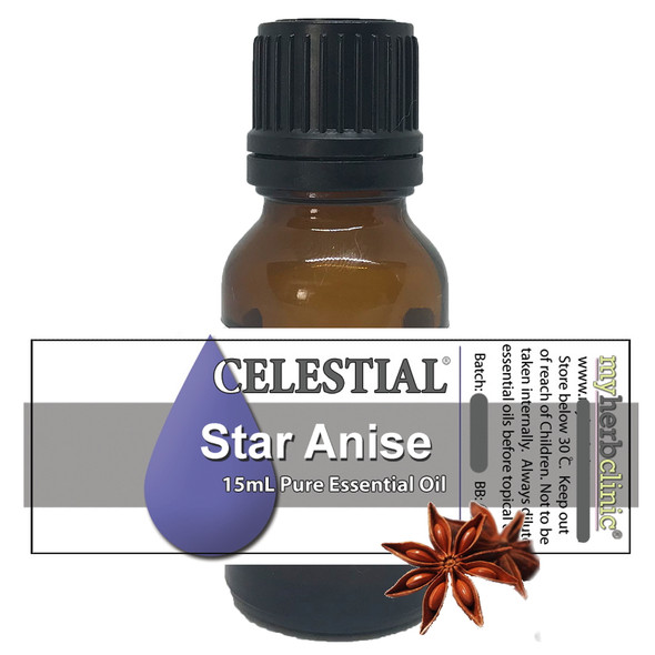 CELESTIAL ® ORGANIC STAR ANISE THERAPEUTIC ESSENTIAL OIL - UPLIFTING COMFORTING