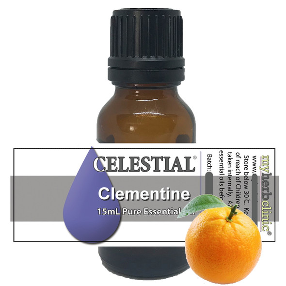 CELESTIAL ® CLEMENTINE THERAPEUTIC GRADE ESSENTIAL OIL - CALM RELAX UPLIFTING