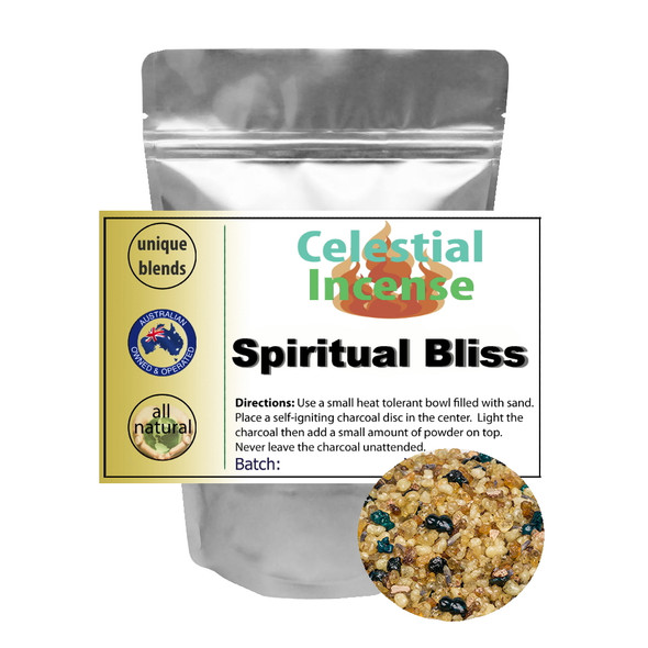 CELESTIAL ® SPIRITUAL BLISS RESIN INCENSE - MEDITATION PRAYER RITUALS - 25g
