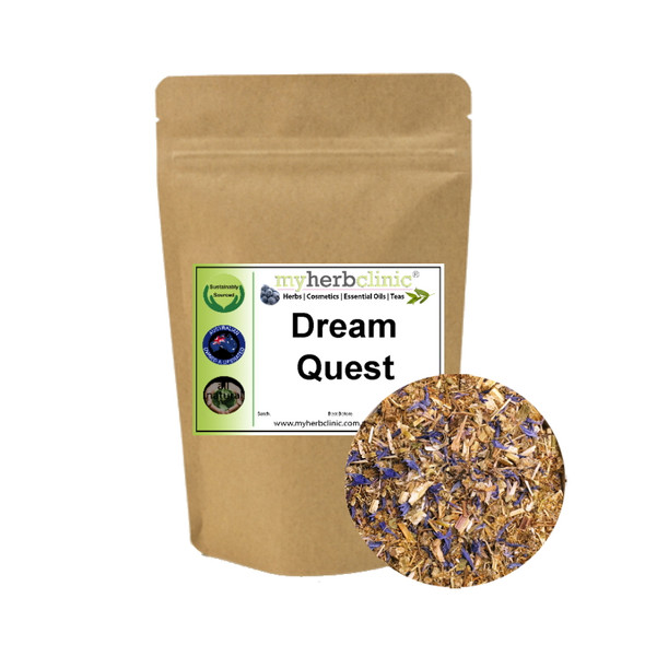 DREAM QUEST HERBAL TEA Wild Lettuce Uva Ursi Catnip Chamomile Cornflowers SLEEP