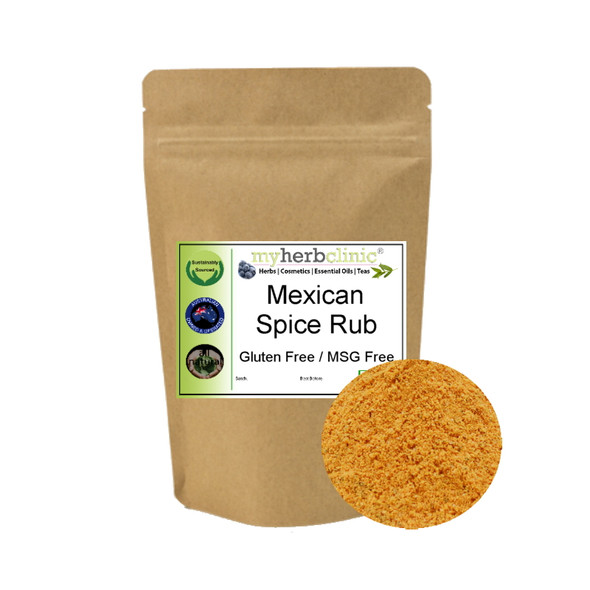 MEXICAN GF SPICE RUB SEASONING GOURMET - BBQ POPCORN MEAT - ALL FLAVOR NO HEAT