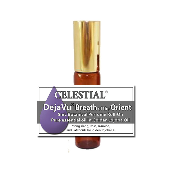 DejaVu® BREATH of the ORIENT BOTANICAL PERFUME  - ORGANIC ROLL ON - EROTIC FEMININE SCENT ylang ylang rose + more
