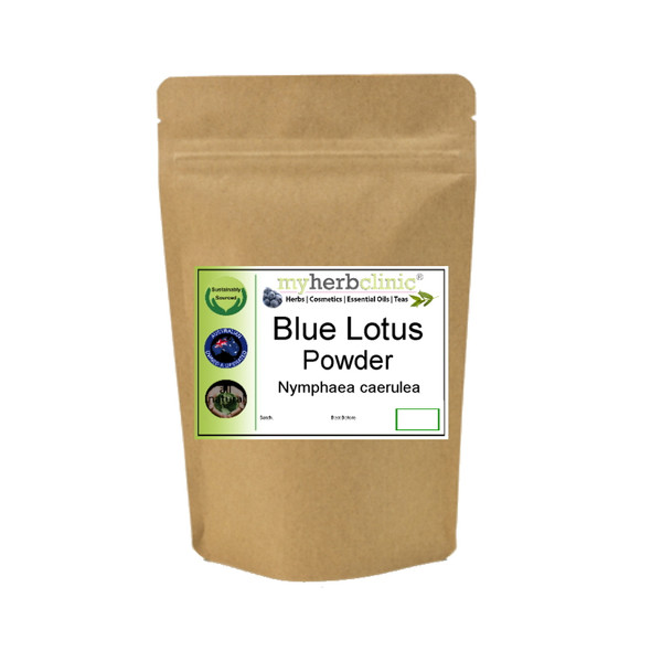 MY HERB CLINIC ® BLUE LOTUS ORGANIC WATERLILY POWDER Nymphaea Caerulea