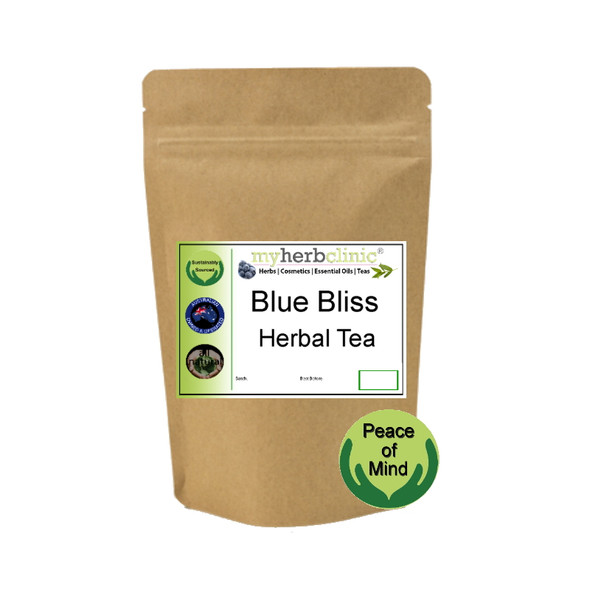 MY HERB CLINIC  ® BLUE BLISS HERBAL TEA - MELLOW RELAX - AN ENCHANTING BLEND