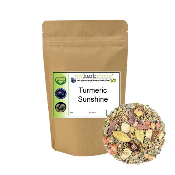 MY HERB CLINIC ® TURMERIC SUNSHINE HERBAL TEA BLEND - HARMONIOUS LIFE - RELAX