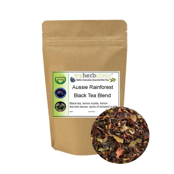 MY HERB CLINIC ® AUSSIE RAINFOREST BLACK TEA BLEND CERTIFIED 100% YUM - MYRTLE