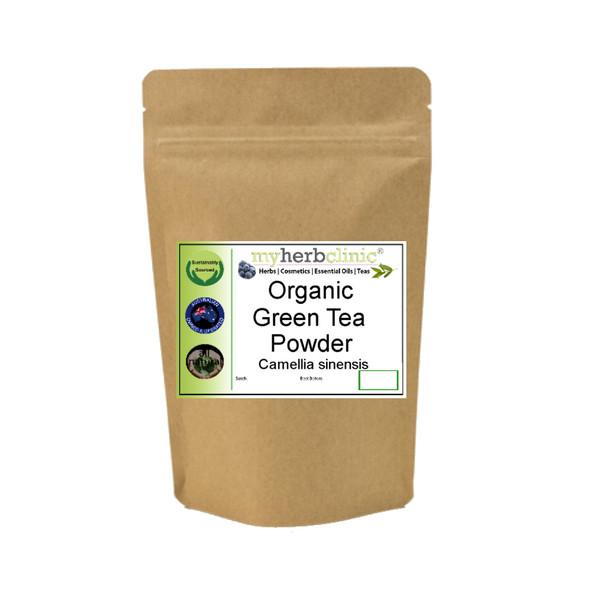 MY HERB CLINIC ®  GREEN TEA ORGANIC POWDER LATTE SUPERFOOD HEALTH
