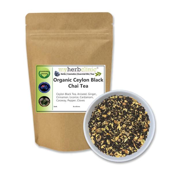 MY HERB CLINIC ®  CEYLON BLACK CHAI TEA ORGANIC SUPERFOOD HEALTH