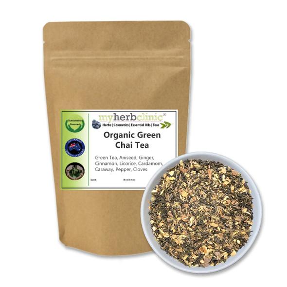 MY HERB CLINIC ®  GREEN CHAI TEA ORGANIC SUPERFOOD HEALTH