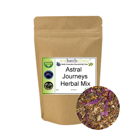MY HERB CLINIC  ® ASTRAL JOURNEYS HERBAL BLEND - MELLOW RELAX SLEEP LUCID DREAMS - ENCHANTING BLEND