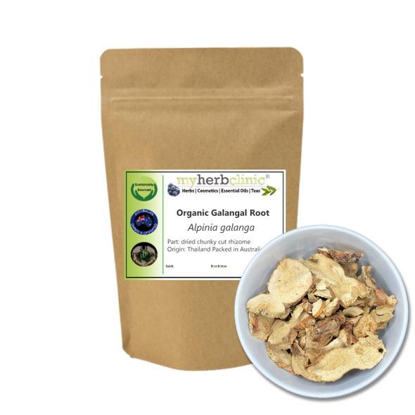 MY HERB CLINIC ® GALANGAL DRIED CHUNKY CUT ROOT RHIZOME ORGANIC- Herbal Tea