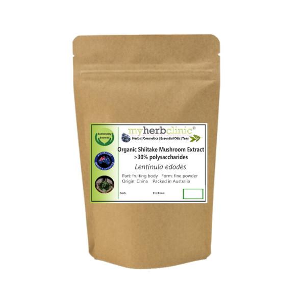 MY HERB CLINIC ® SHIITAKE MUSHROOM EXTRACT ORGANIC >30% polysaccharides