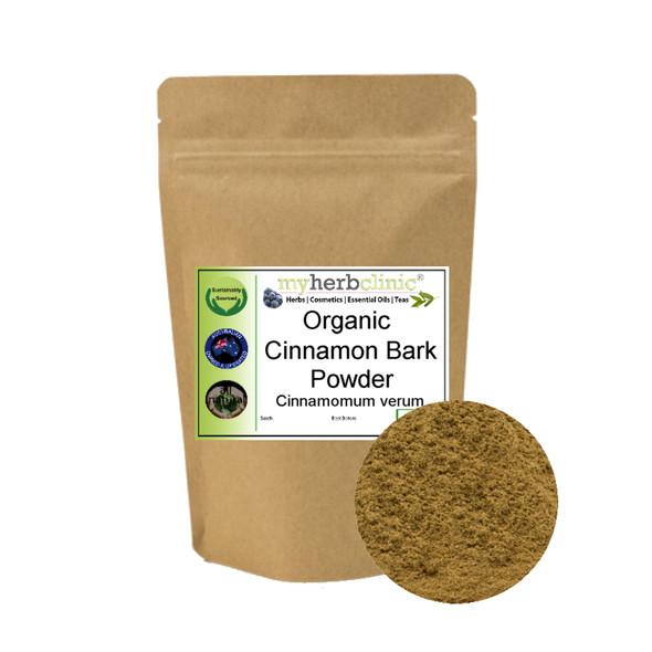 MY HERB CLINIC ® ORGANIC TRUE CINNAMON BARK POWDER TEA - Cinnamomum Verum